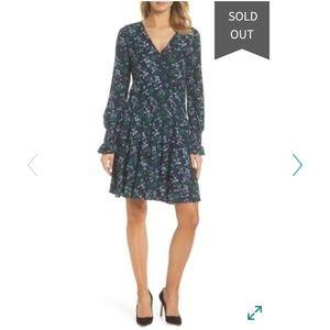 XL Michael Kors Tiered Drop-Waist Floral Dress